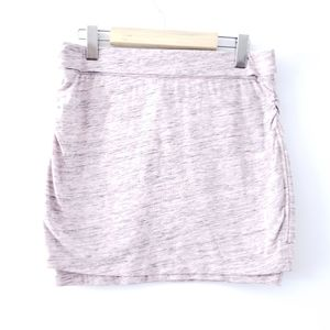 BENCH Pink Skirt Heathered Mini Skirt Grey